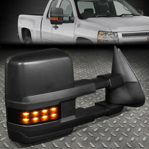 For 99 07 Silverado Sierra Powered Heated Led Turn Signal Towing Mirror Right