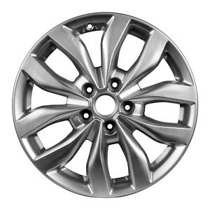 17 X 6 5 5 Double Spoke New For Kia Alloy Wheel Sparkle Silver Metallic 74690