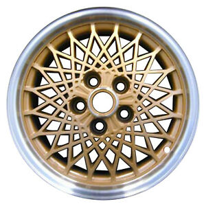 16 X 8 Diamond Spoke Oem Pontiac Alloy Wheel Gold W Flange Cut Hub 1660