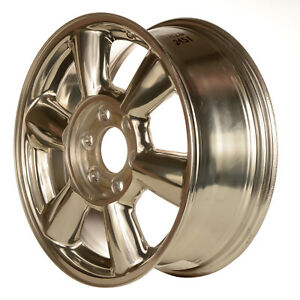 17 X 7 6 Round Spoke Oem Gmc Alloy Wheel Polish W Gold Tint Hand Masked 5143