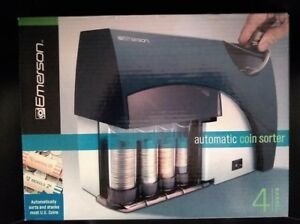 Emerson Automatic Coin Sorter Counter Wrapper Machine Bank Business Money