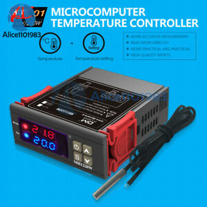 Ac 110 220v Mh1220w 10a Digital Dual Display Temperature Controller Thermostat