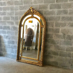 Big French Louis Xvi Floor Mirror