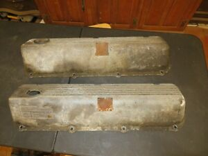 1970 71 Ford 429 Cj Original Aluminum Valve Covers Mustang Torino Cyclone