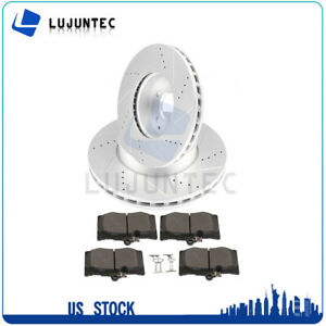 Front Brake Discs Rotors And Ceramic Pads For Benz C300 2008 2012 Drilled