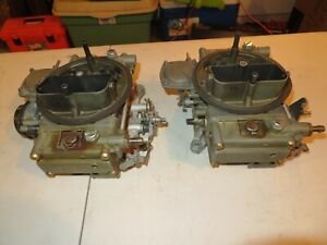 Original Ford 427 Fe Holley Dual Carbs Carburetors 2804 Bk 2805 Bj