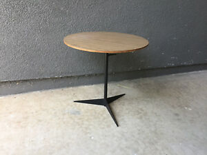 Tony Paul Thinline Side Table Vintage Stool Side Table Mid Century Modern