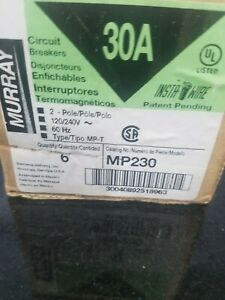 Qty 12 Murray Mp230 15 amp 2 Pole 240 volt Circuit Breaker New Free Shipping