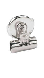 Universal Bulldog Magnetic Clips 1 1 4 Wide Nickel plated unv31260 3 Boxes