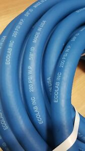 New Ecolab 9222 2016 Discharge Hose 5 8 Idx X 50ft 200psi W p