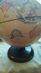 Vintage Globe Rand Mcnally Terrestrial 12 Raised Topography Has Kampuchea
