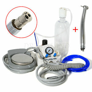 Dental Portable Turbine Unit High Speed Handpiece 4holes Fit Air Compressor A