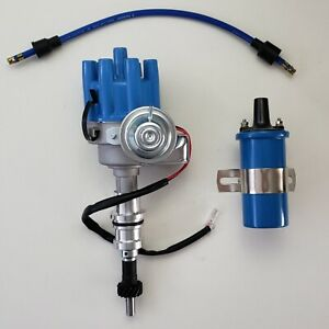 Small Block Ford 260 289 302 Blue Female Small Cap Hei Distributor 45k Coil