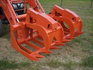 Kubota Skid Steer Attachment 72 Severe Duty Root Grapple Bucket Ship 199
