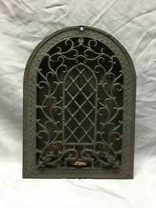 Antique Cast Iron Arched Gothic Heat Grate Wall Register 6x10 Vintage 78 19d