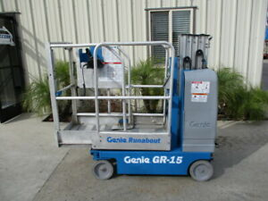2007 Genie Gr 15 Personal Runabout Aerial Work Platform Gr15 Single Man Lift
