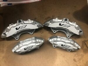 Full Set New Gm Cts V Ctsv Silver 6 Piston Front 4 Piston Rear Calipers Cadillac