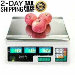 Digital Price Computing Scale Electronic Lcd Commercial Food Meat Coun