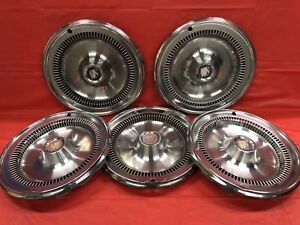 Set Of 5 Vintage 1976 79 Buick 14 Hubcap Regal Skylark
