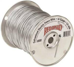 Red Brand 85610 Electric Fence Wire 14 Ga Wire 1 4 Mile L Steel Galvanized