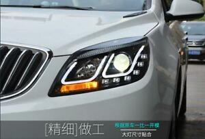 For Gm Buick Excelle Gt Led Headlights Led U Style Angel Eyes Lamps 2010 2013 Lf