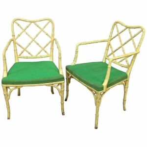 Pair Chinese Chippendale Armchairs