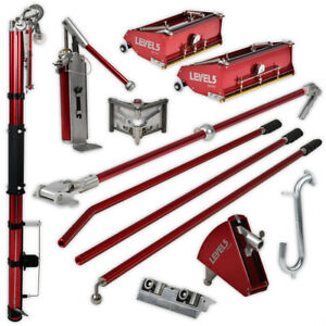 Drywall Taping finishing Tool Set W Automatic Taper Flat Boxes Level 5 Tools
