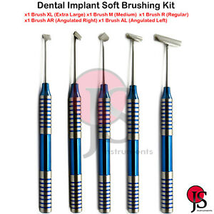 Dental Implant Flap Surgery Instruments Soft Brushing Kit Periosteal Incision
