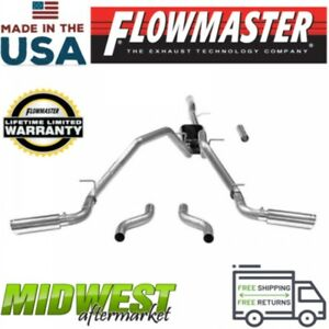 Flowmaster Cat Back Exhaust System Fits 2011 2018 Gm Silverado Sierra 1500 6 2l