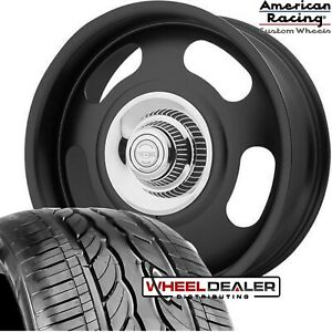 20 Black American Racing Vn506 Rally Wheels Tires Mounted For Chevy Gmc C10 5x5