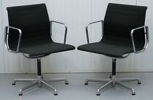 1 Of 2 Original Ea117 Charles Ray Eames Icf Vitra Office Swivel Armchairs