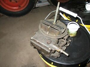 1 Holley Two 2 Barrel Bbl Carb For Rebuild Core Jeep Wagoneer Cherokee 230 Eng