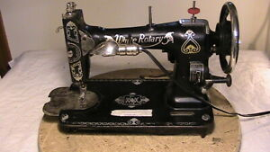 White Rotary Sewing Machine Head Antique Complete Working Condition Electrif