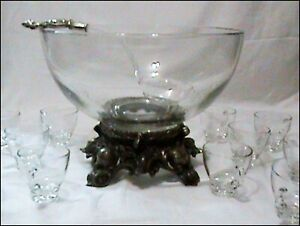 Pitman Dreitzer Punch Bowl Set