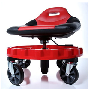 Work Stool Chair Rolling Creeper Seat Tools Tray Heavy Duty Auto Shop Mechanics