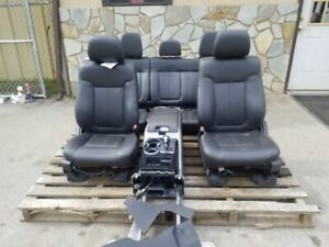 11 14 Ford F150 Front Black Leather Bucket Seats With Console Rear Seat Crew Cab