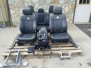 11 14 Ford F150 Black Leather Bucket Seats Front Rear Harley Davidson Console