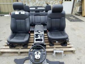 11 14 Ford F150 Front Black Leather Bucket Seats Power Crew Cab Console