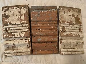 Antique Wood Plinth Block Vtg Architectural Salvage Chippy Collectible