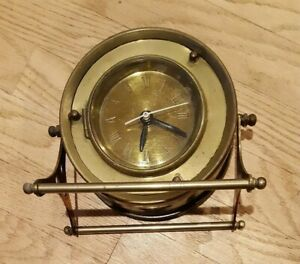 Vintage Style Clock Brass Parts Or Restore