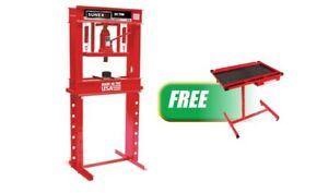 20 Ton Manual Shop Press W free Adjustable Heavy Duty Work Table With Drawer