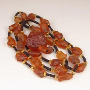 Chinese Natural Agate Necklace