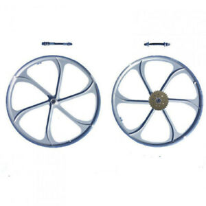 Gas Motorized Bicycle 26 Silver Mag Wheel With 32 Teeth 6 9 Holes Combo Set