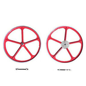 Combo 29 700c Red Mag Wheel With 36 Teeth 3 6 9 Holes Sprocket Combo Set