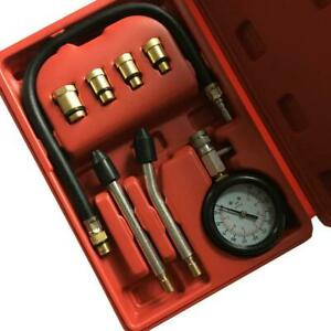 Professional Petrol Gas Engine Cylinder Compression Tester Gauge Kits 300 Psi