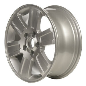 Alloy Wheel 16 X 7 6 Spokes W Flat Grooves Sparkle Silver Full Face Painted