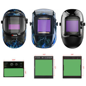 Solar Power Auto darkening Welding Helmet Welder Mask Wide Shade Arc Tig Mig