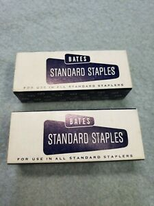 Vintage Nos Bates Mercury Standard Staples 2 Full 5000 Boxes Made In The Usa