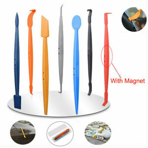 Micro Car Wrap Vinyl Tool Wrap Stick Squeegee Magnetic Slot Tuck Gasket Tool Usa