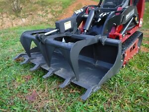 Toro Dingo Mini Skid Steer Attachment 48 Tooth Bucket Grapple Ship 149